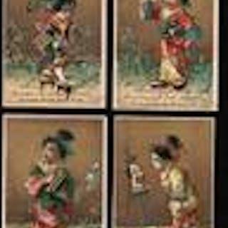 Four Oriental Victorian Trade Cards from Callanan & Kemp