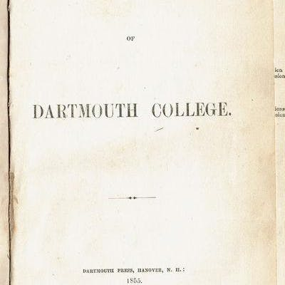 LAWS OF DARTMOUTH COLLEGE