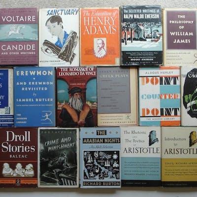 Modern Library LOT of 20 Vintage HC Books Toledano Binding 8/Dust Jacket i