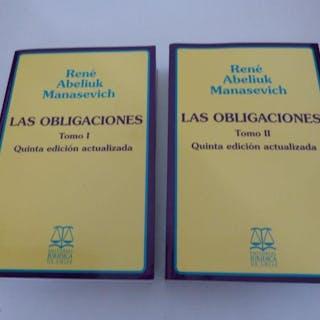 Las obligaciones. (2 Bde / 2 vol. set). Abeliuk Manasevich, René, America Latina