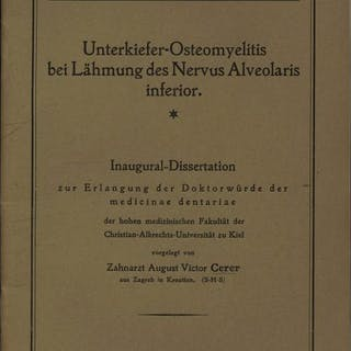 Unterkiefer-Osteomyelitis bei Lähmung des Nervus Alveolaris inferior
