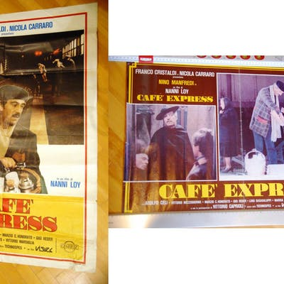 CAFE EXPRESS cafè 1 fotobusta e 1 poster gigante locandina manifesto film