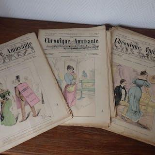 LA CHRONIQUE AMUSANTE Caricatures Humour ANNEE 1894...
