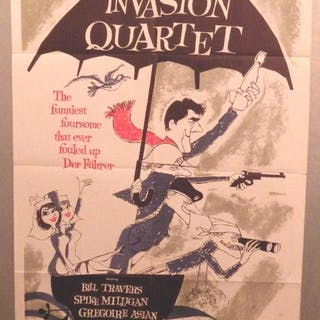 film poster for Invasion Quartet; SEARLE, Ronald: POSTERS
