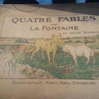 Quatre Fables Fontaine en douze Tableaux dessines par Michel Colle Fontaine