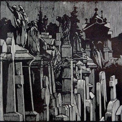 Frankenstein's Family Tomb Moser, Barry Fine Printing,Illustrated Books