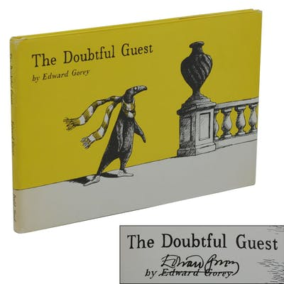 The Doubtful Guest Gorey, Edward Illustrated Books,Signed