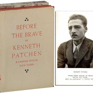 BEFORE THE BRAVE - REVIEW COPY Patchen, Kenneth Literature
