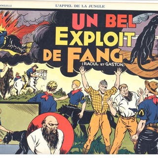 L APPEL DE LA JUNGLE # 9 1938 Raoul et Gaston SAGE Avant...