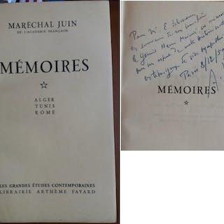 MEMOIRES Alger Tunis Rome Envoi DEDICACE Signed 1959 Marechal Alphonse JUIN
