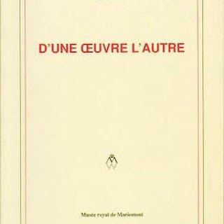 D'une Oeuvre l'Autre : Le Livre D'artiste Dans L'art...