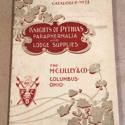 Knights of Pythias Paraphernalia and Lodge Supplies Catalogue No