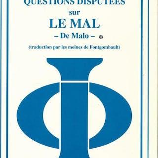 Questions disputées sur le Mal - De Malo. Tome I Saint Thomas d'Aquin