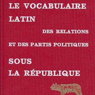 Le vocabulaire latin des relations et des partis...