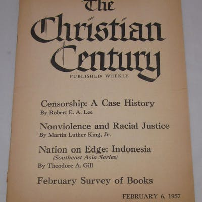 """The Christian Century with article """"Nonviolence and..."""