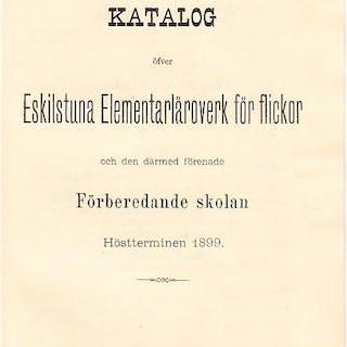 Katalog öfver Eskilstuna Elementarläroverk för flickor...