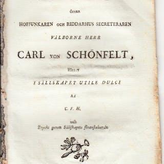 Åminnelsetal öfver välborne herr Carl von Schönfelt