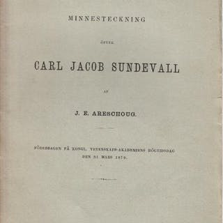 Minnesteckning öfver Carl Jacob Sundevall