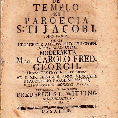 De templo et paroecia S:ti Jacobi