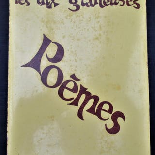 Les dix glaneuses - Poemes Paule Verdier Author signed...