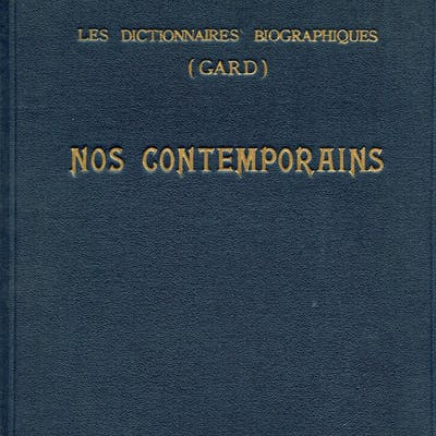 NOS CONTEMPORAINS (1937) Les Dictionnaires Biographiques...