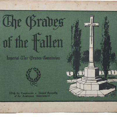 Circular Fraseología Oficiales  THE GRAVES OF THE FALLEN : Imperial War Graves Commission [cover title]  Kipling | Barnebys