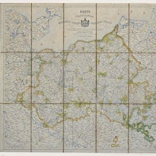 Farb-Lithografie- Karte