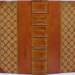 Binding, Fine - Sangorski & Sutcliffe) The Life of Percy Bysshe Shelley Dowden