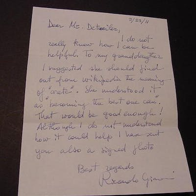 SIGNED LETTER Giacconi