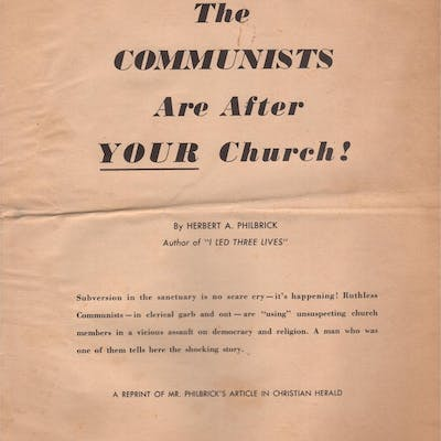The Communists Are After Your Church PHILBRICK
