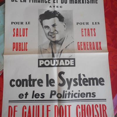 Contre la dictature de la finance et du marxisme ( POUJADE Pierre )