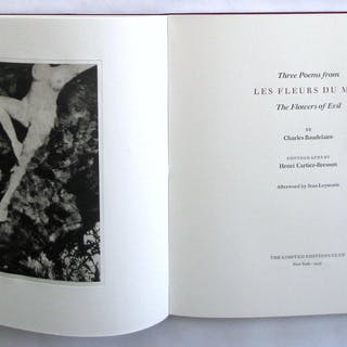 Three Poems Baudelaire, Charles. Photographs by Cartier-Bresson.