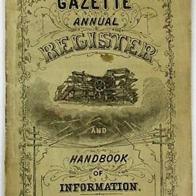 THE GAZETTE ANNUAL REGISTER AND HANDBOOK OF INFORMATION