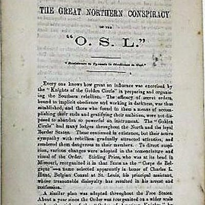 """THE GREAT NORTHERN CONSPIRACY OF THE """"O.S.L.""""..."""