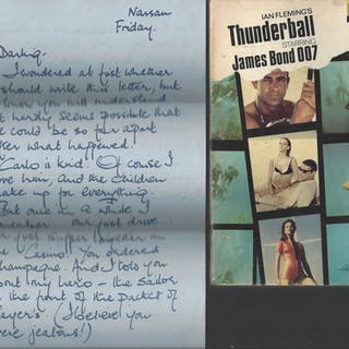"Thunderball - RARE EDITION WITH ""DOMINO"" LETTER Ian Fleming Ian Fleming"