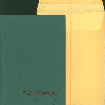 The Pedestrian Bradbury, Ray Association Copy,Limited Edition,Short Story