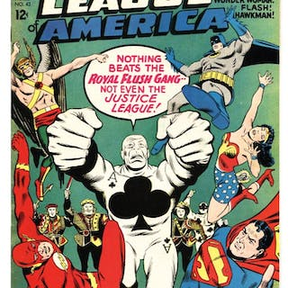 Justice League of America #43 comic book 1st appearance    – Current