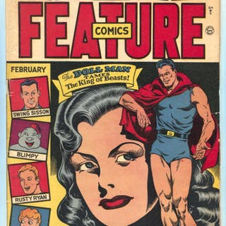 Feature Comics #85 1941- DOLL MAN- Spin Shaw VG+   COMICS...