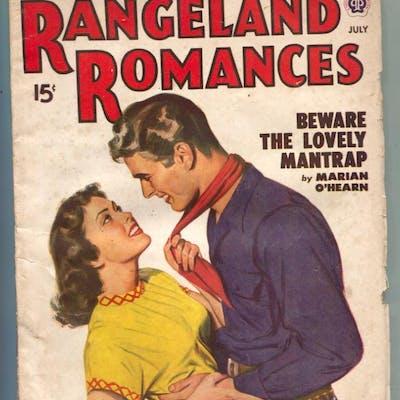 Rangeland Romances Pulp July 1949- Lovely Mantrap   PULPS...