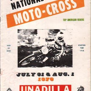 Unadilla Valley Sports Center AMA Motorcycle Race Program...