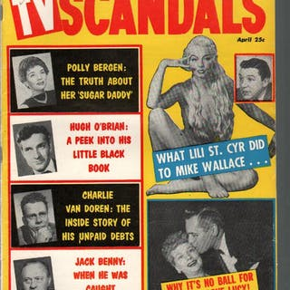 TV Scandals 4/1958-Jackie Gleason-Mike Wallace-Lili St...