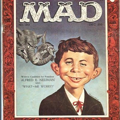 Mad #30 1956-EC-1st Alfred E Neuman-Norman Mingo-Wally...
