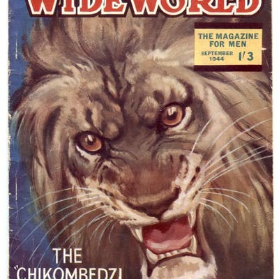 The Wide World Pulp September 1944-lion cover...