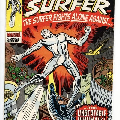 Silver Surfer #18 jack kirby comic book 1970-Marvel-last...