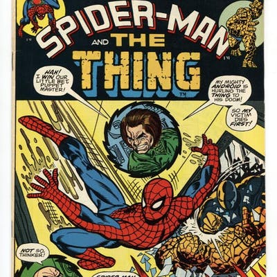 Marvel Team-Up #6 1973- Spider-man Thing comic book VF/NM...