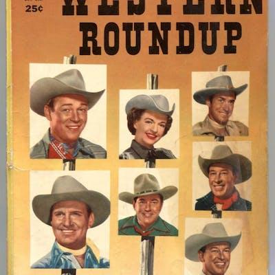 Western Roundup #12 1955- Gene Autry- Johnny Mack Brown...