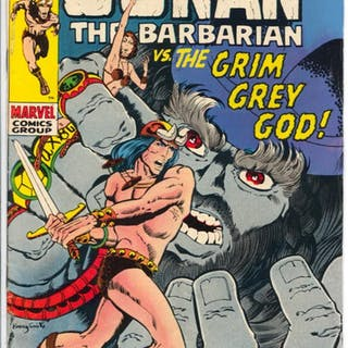 Conan #3 1971-Marvel-Barry Smith art-sword & sorcery-VG...
