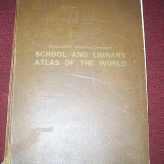 School and Library atlas of the World with Statistical...