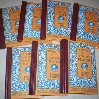 McGuffey's Eclectic Readers Set of 7 books: Primer