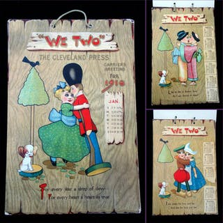 We Two, Carriers Greetings for 1910   Ephemera -3,Paper...